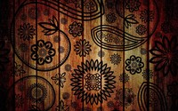 Floral pattern on wood wallpaper 2560x1600 jpg