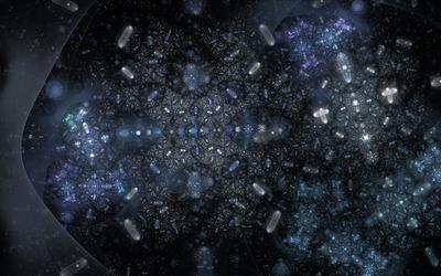 Fractal amoebas wallpaper