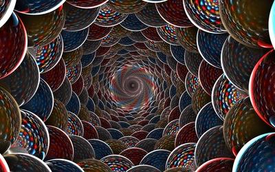 Fractal balls abyss wallpaper