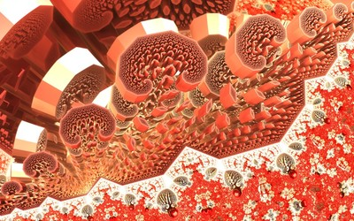 Fractal blood cells wallpaper