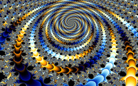 Fractal blue and golden spiral wallpaper 2560x1600 jpg