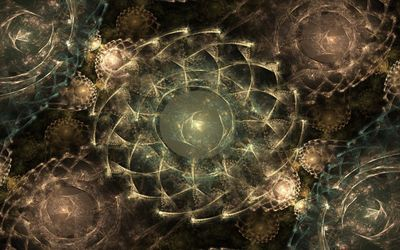 Fractal circles wallpaper