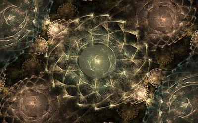 Fractal circles wallpaper