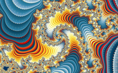 Fractal colorful pillars wallpaper