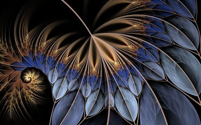 Fractal feather wallpaper