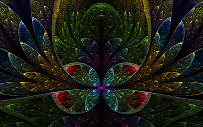 Fractal floral design wallpaper