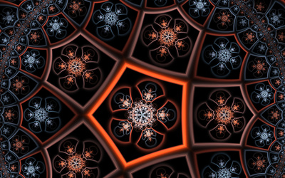 Fractal flower pattern wallpaper