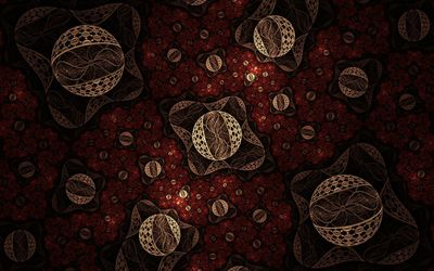 Fractal lace spheres wallpaper