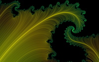 Fractal leaves wallpaper 2560x1600 jpg