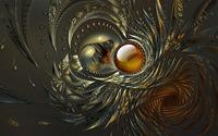 Fractal metallic swirls wallpaper 1920x1200 jpg