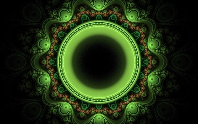 Fractal orb design wallpaper