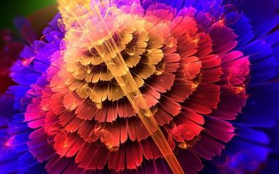 Fractal petals wallpaper