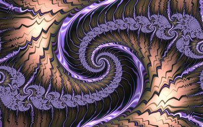 Fractal purple swirl wallpaper