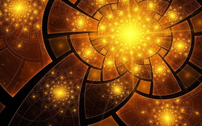Fractal sparkles wallpaper
