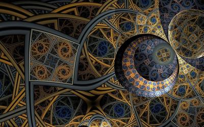 Fractal spirals wallpaper