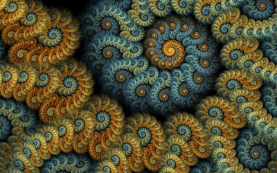 Fractal spirals [2] wallpaper