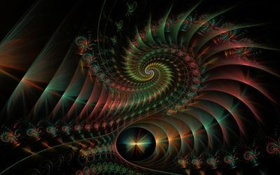 Fractal spirals [4] wallpaper