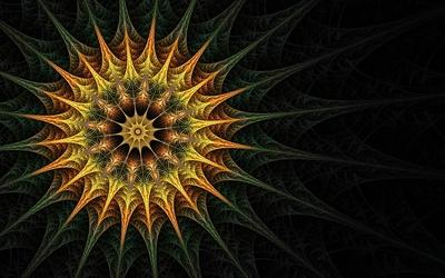 Fractal sun wallpaper