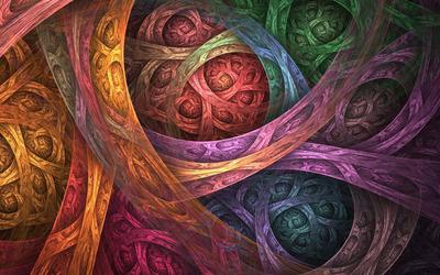 Fractal swirls wallpaper