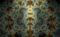 Fractal swirls inside the golden bars wallpaper 1920x1200 jpg