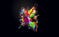 Geometrical Shape splash wallpaper 1920x1200 jpg