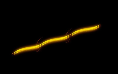 Gilded trail glowing in the darkness wallpaper