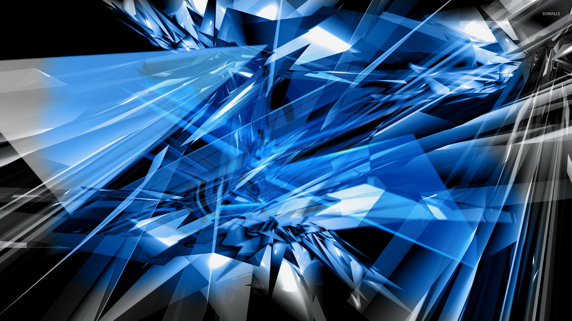 Glass Shards Wallpaper Abstract 1920x1080 Jpg