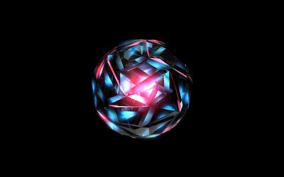 Glowing ball wallpaper