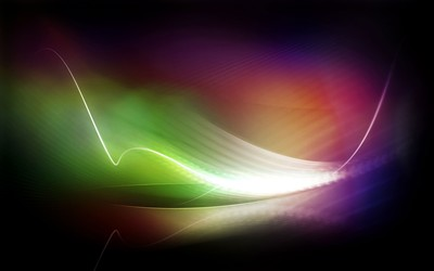 Glowing colorful curves wallpaper