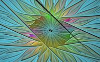Glowing curves on the flower petals wallpaper 1920x1080 jpg