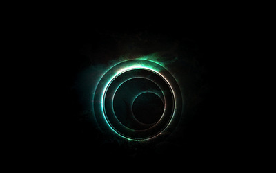 Glowing discs wallpaper