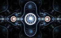 Glowing fractal domes wallpaper 1920x1080 jpg