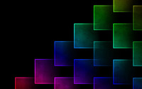 Glowing neon squares wallpaper 2560x1440 jpg