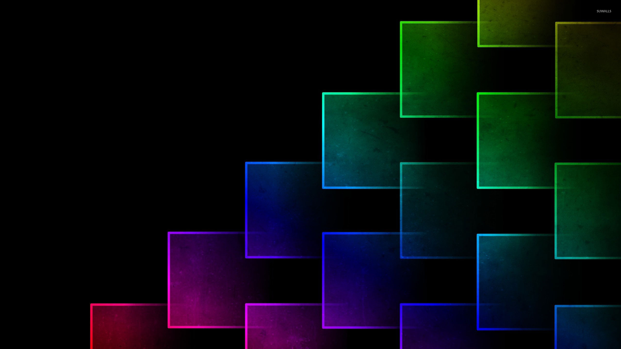 Glowing neon squares wallpaper - 215.1KB
