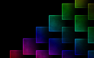Glowing neon squares wallpaper