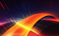 Glowing orange curve wallpaper 2560x1440 jpg