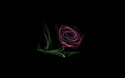 Glowing rose wallpaper