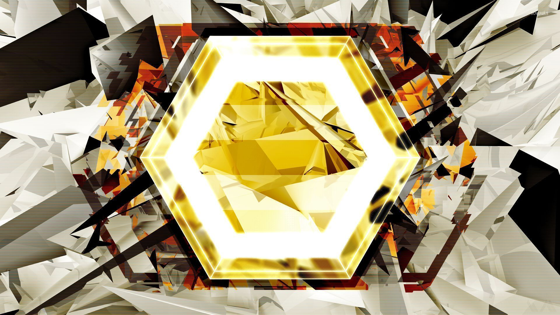 Fantastic Wallpaper Mountain Hexagon - gold-hexagon-26597-1920x1080  Graphic_682886.jpg