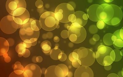 Golden blurry circles wallpaper