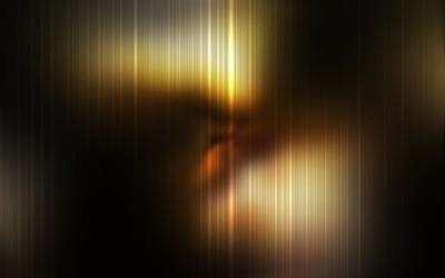 Golden blurry stripes wallpaper