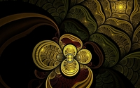 Golden flower glowing inside the swirl wallpaper 1920x1200 jpg
