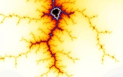 Golden fractal [2] wallpaper