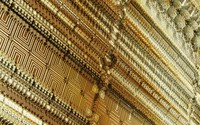 Golden fractal shapes wallpaper 2880x1800 jpg