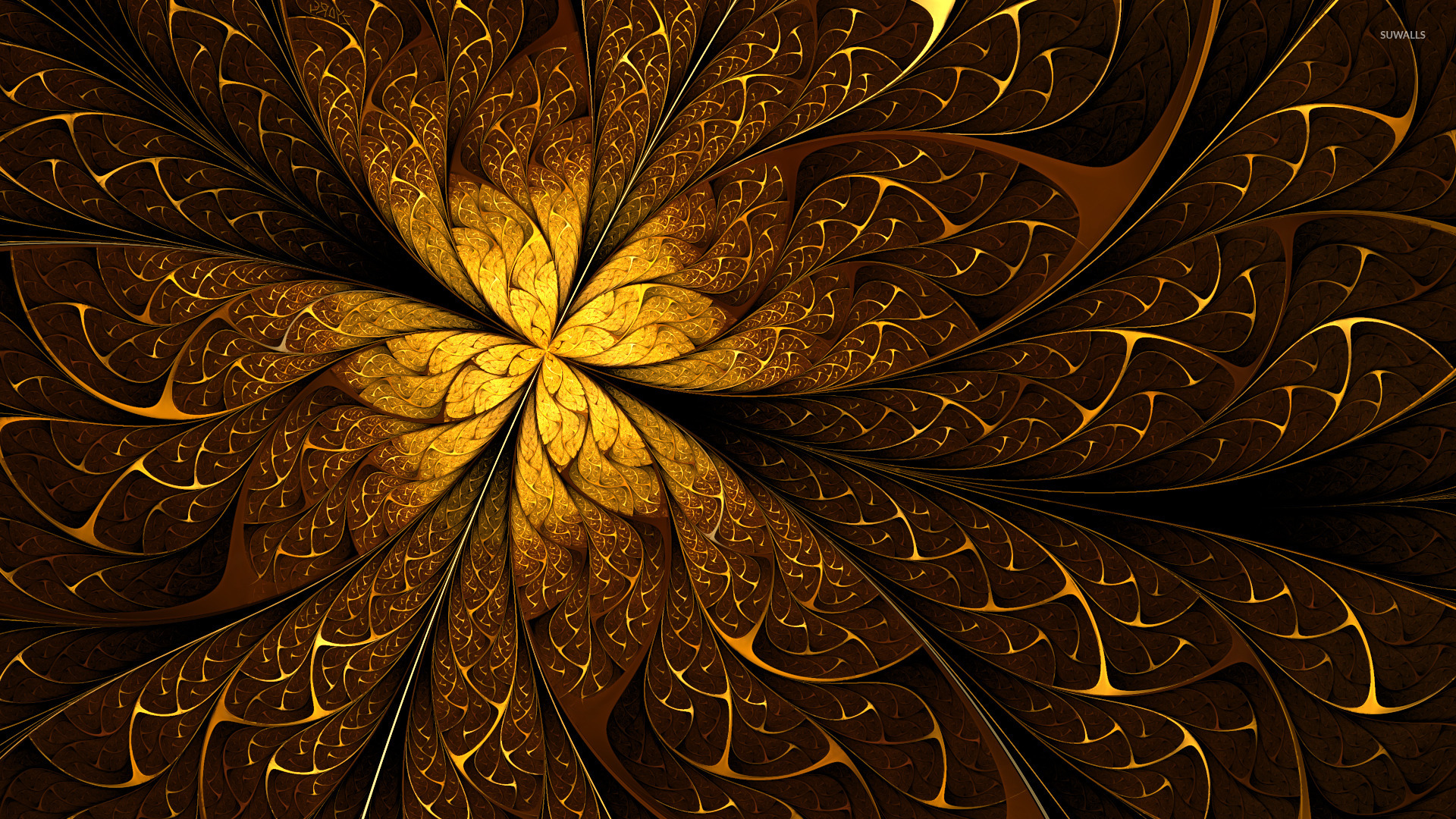 Golden orbs wallpaper - 3D wallpapers - #45761