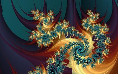 Golden swirls wallpaper