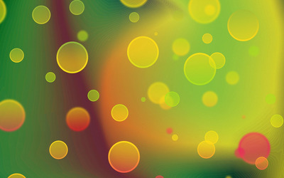 Gradient bubbles wallpaper