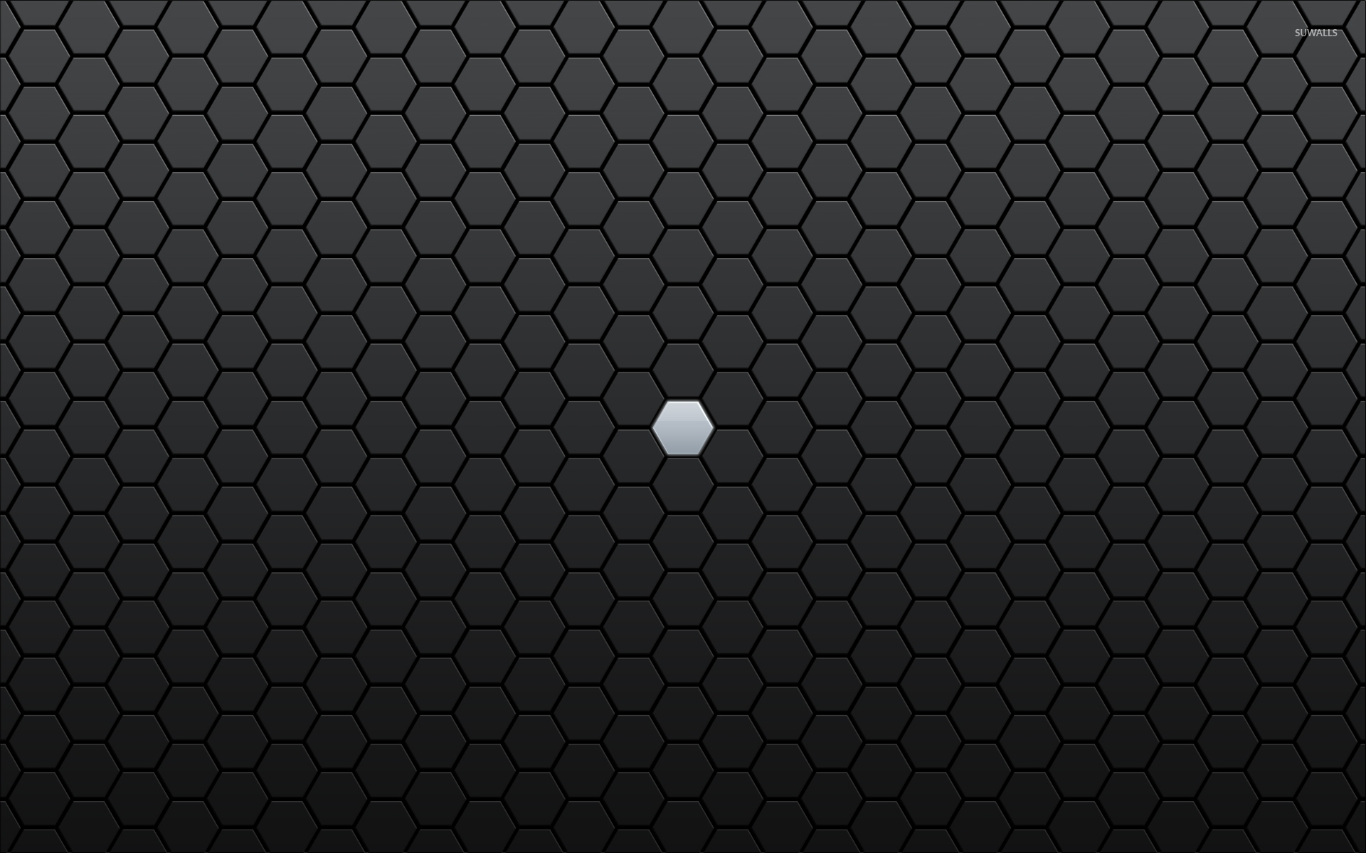 gray hexagon lost between black ones wallpaper - abstract wallpapers