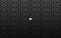 Gray hexagon lost between black ones wallpaper 1920x1200 jpg