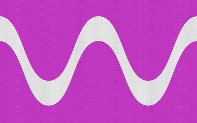 Gray wave on purple wave pattern wallpaper