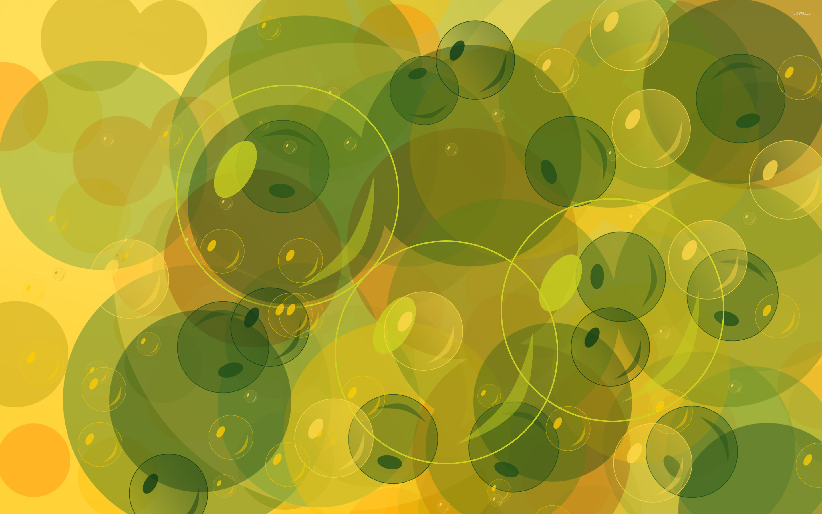 Green Bubbles Wallpapers HD